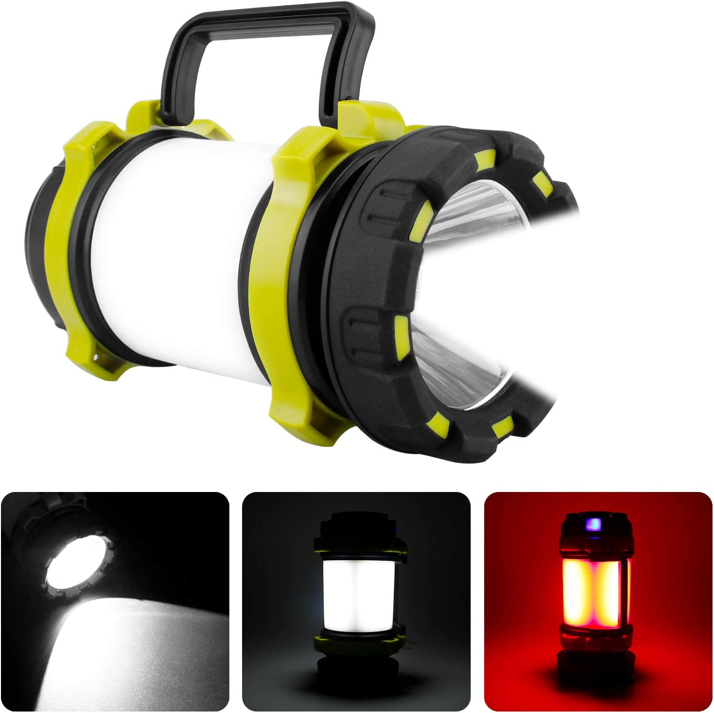 Arfbear LED Camping Torch Rechargeable Outdoor Powerful Flashlight Lantern Searchlight Waterproof Power Bank 4 Modes 800 Lumens Camping Lantern
