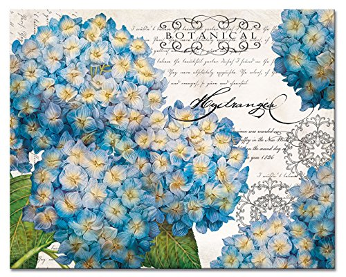 Hydrangeas Glass Cutting Board, 15
