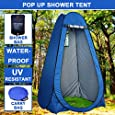 Outdoor Pop Up Beach Camping Shower Toilet Tent Portable Instant Sun Emergency Survival Shelter Changing Dressing Room +Shower Bag