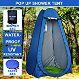 Pop Up Portable Camping Shower Toilet Tent Outdoor Privacy Change Room Shelter+Shower Bag