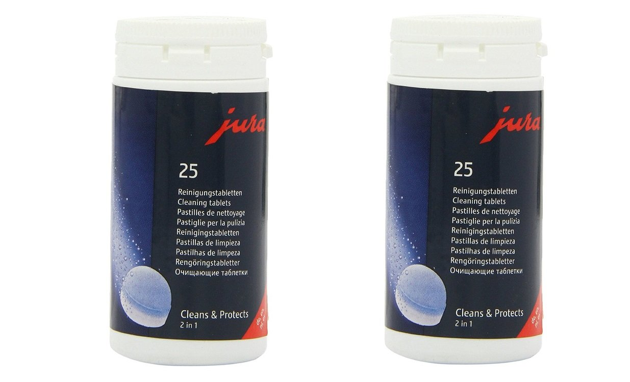 Jura 2-Phase Cleaning Tablets for Fully Automatic Coffee Machines, 25 Count (2 X 25 Pack)