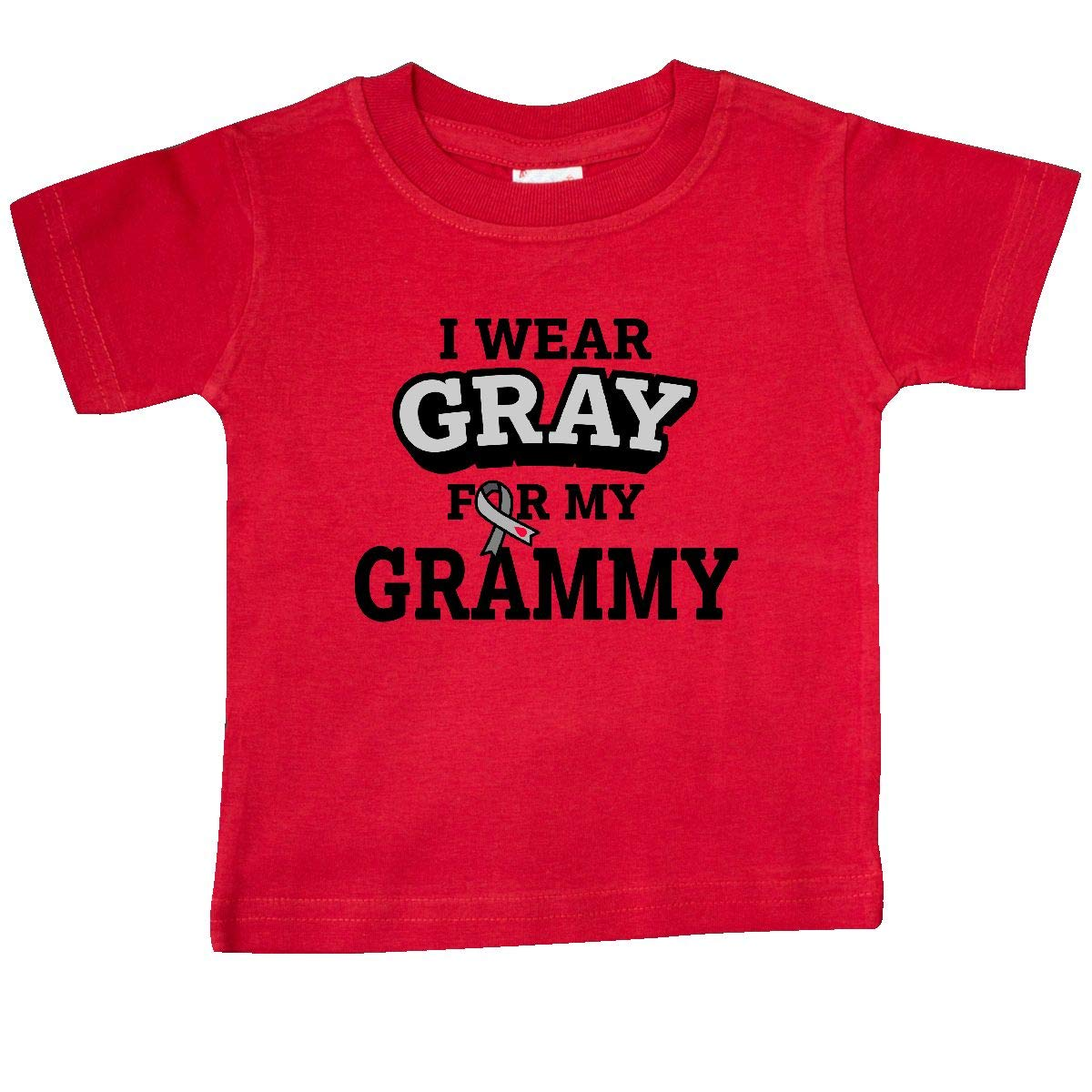 inktastic I Wear Gray for My Grammy Diabetes Awareness Baby T-Shirt