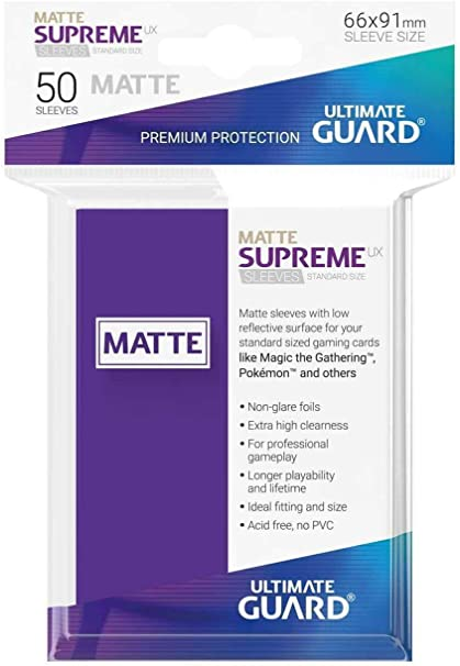 Supreme Ux Sleeves Standard Size Matte Purple 50