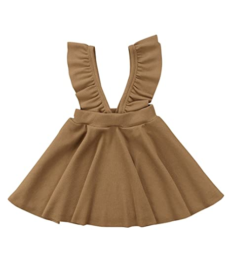 7fd1ec44 XARAZA Toddler Kids Baby Girls Braces Tutu Skirt Dress Outfit ...