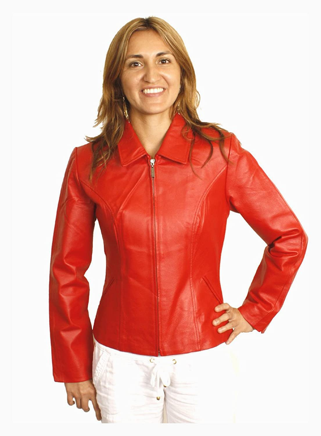 Red leather jacket for women jackets review for Red leather shirt for womens