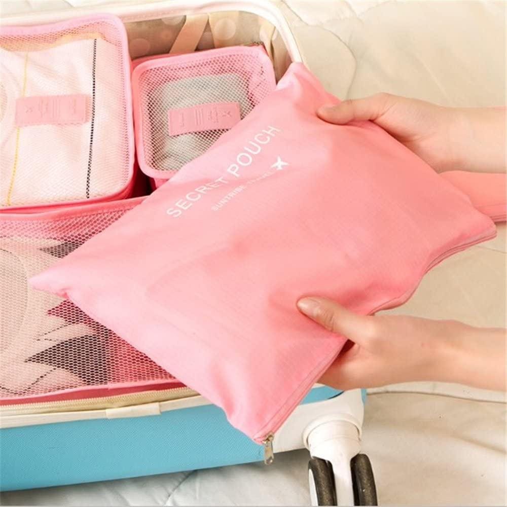 6 Set Travel Storage Bags Multifunctional Clothing Sorting Luggage Organizer Pouch
