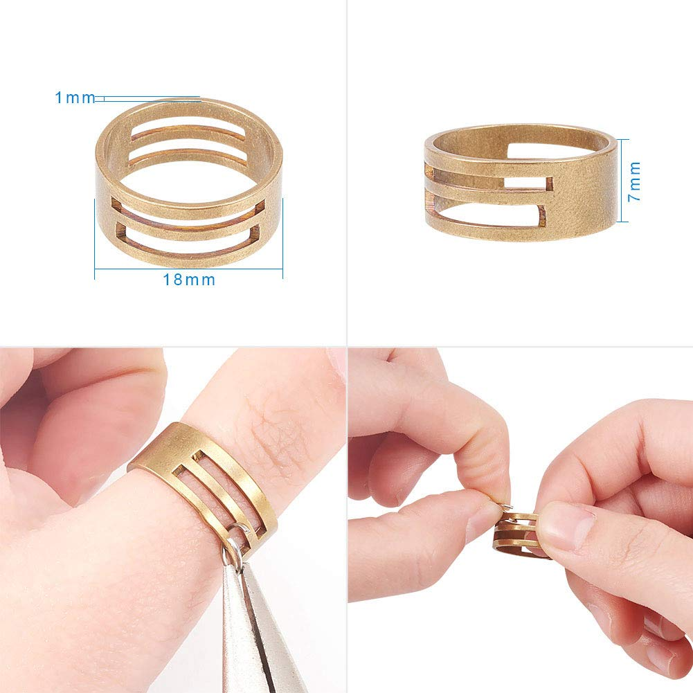 8mm Close but Unsoldered Jump Rings with 1 pcs Jump Ring Opener for Jewelry Making PandaHall Elite about 800pcs 2 Sizes Golden//Silver 304 Stainless Steel Open Jump Rings
