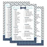 Bow Tie Whats In Your Purse Trivia Baby Shower Games Set of 25 Cards