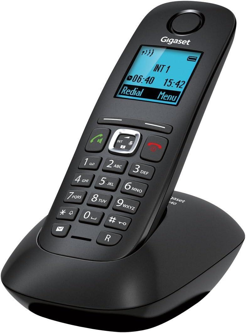 Gigaset Gigaset A540 - Teléfono Fijo inalámbrico (Manos Libres, mínimas radiaciones, DECT/Gap), Negro [Versión Importada]: Amazon.es: Electrónica