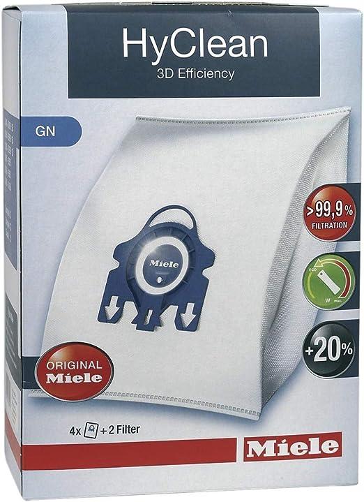 Bolsas para aspiradoras GN Hyclean 3D S400, S600, S800, S5000 de Miele (Paquete por 4 + filtros): Amazon.es: Hogar