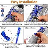 Udaily 4 Pairs No Tie Shoelaces for Kids and
