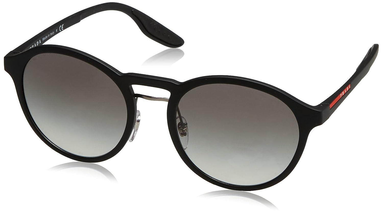 81672d9bc45 Amazon.com  Prada Linea Rossa Men s PS 01SS Sunglasses Black Rubber Grey  Gradient 53mm  Clothing