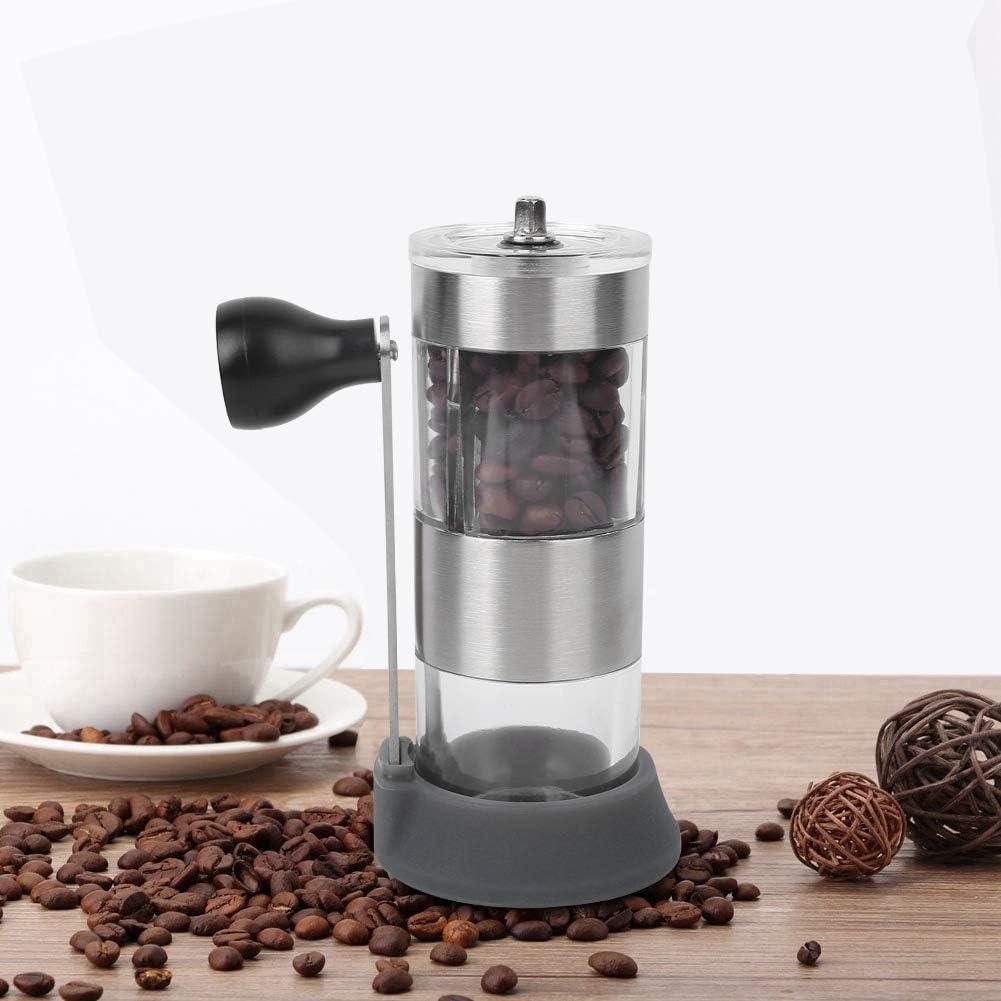 negro Manivelas Molinillo de caf/é manual Molinillo de caf/é lavable ajustable en grano molinillo de caf/é manual con ajuste ajustable