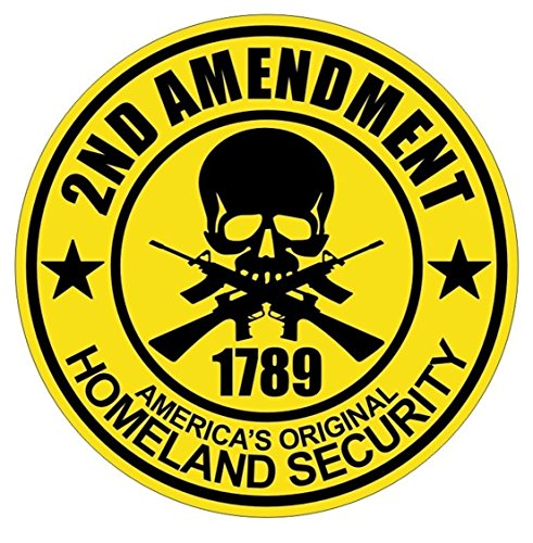 1 Pcs Premium Popular 2nd Amendment 1789 Original Guns Car Sticker Vinyl Decor Security Badge Bumper Emblem Size 2