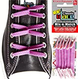 U-Lace Classic Mix-n-Match No-Tie Laces (2 Pack), Bright Purple & Shocking Pink offers