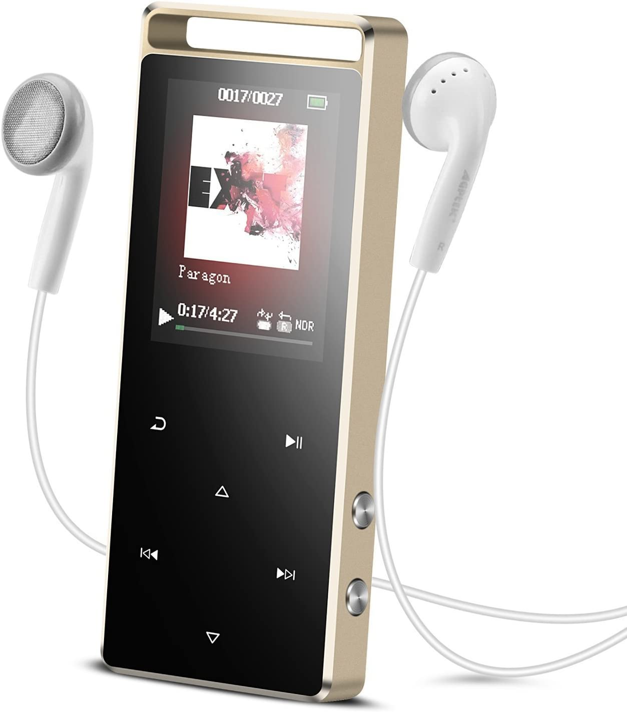 Black AGPTEK MP3 Player with Bluetooth 8 GB Support up to 128GB Lossless Sound Metal Music Player with Touch Screen