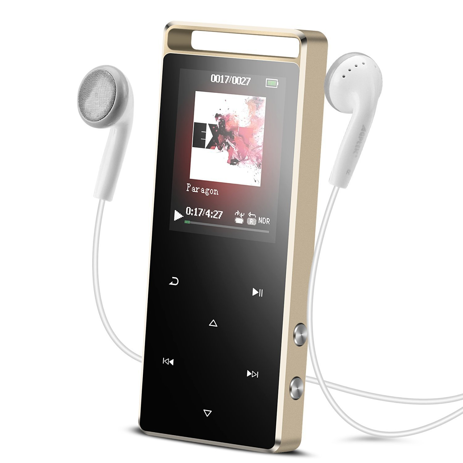 MP3 Player with Bluetooth,AGPETK 8GB Portable Digital Music Player Support FM Radio Voice Recorder,A01T Metal Touch button with Earphone Armband for Sport Running