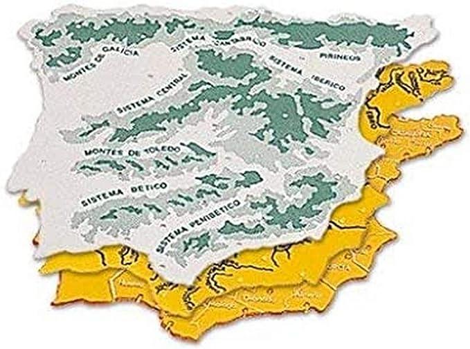 CSP 152218 - Pack de 3 plantillas con diseño mapa España, 22 x 18 ...