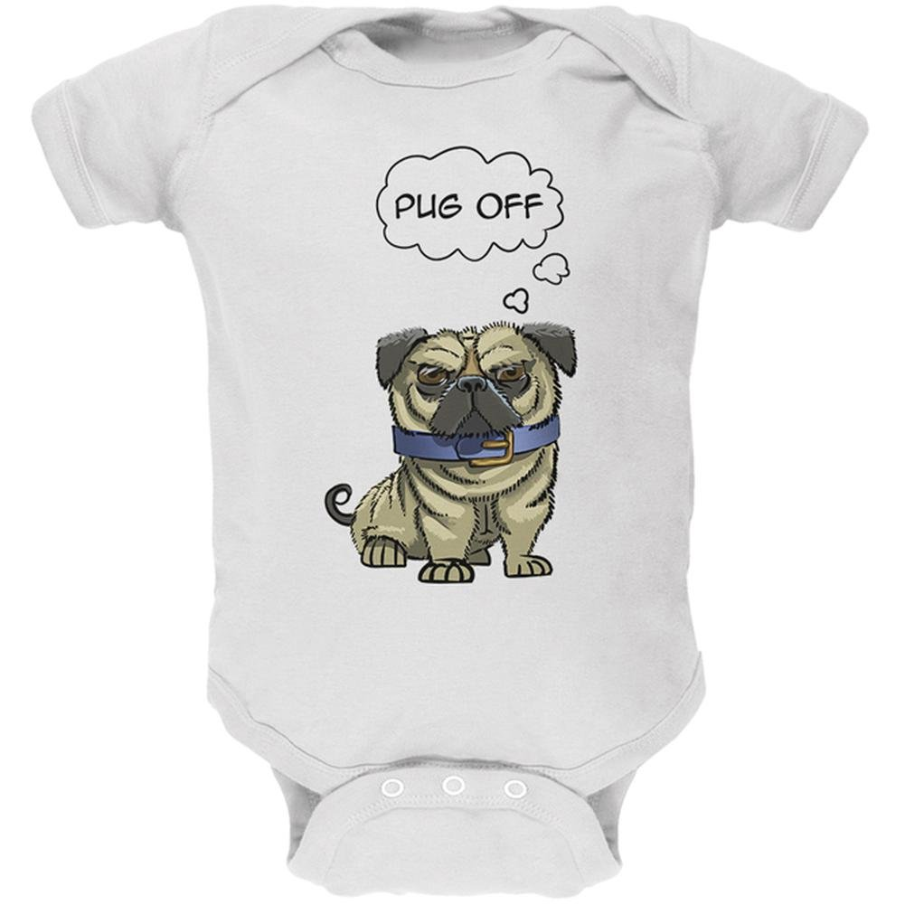 Old Glory Pug Off Funny Dog Soft Baby One Piece 00178337