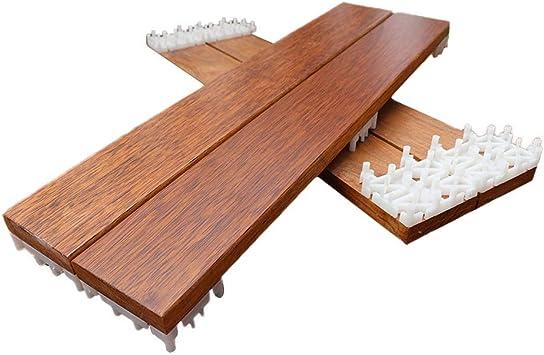 Jardín y patio Revestimientos Azulejos Suelo de madera piso de empalme balcón terraza al aire libre decoración suelo impermeable 175 * 600 mm Juego de 6 piezas: Amazon.es: Bricolaje y herramientas