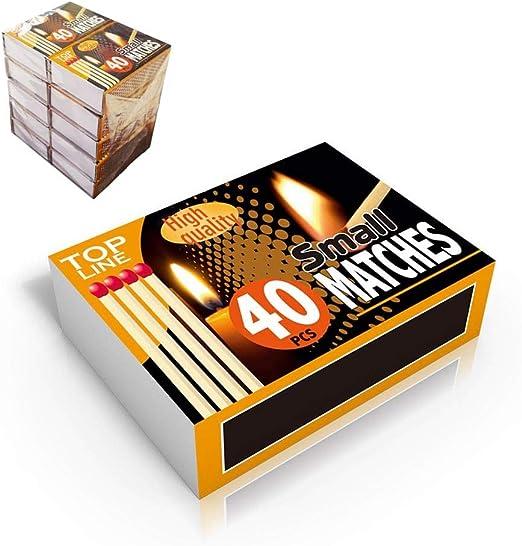 PACK DE 10 CAJAS DE CERILLAS (CAJA DE 4O UNID.): Amazon.es: Iluminación