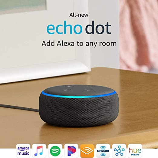 Certified Refurbished All New Echo Dot (3rd Gen)   Smart Speaker With Alexa   Charcoal by Amazon