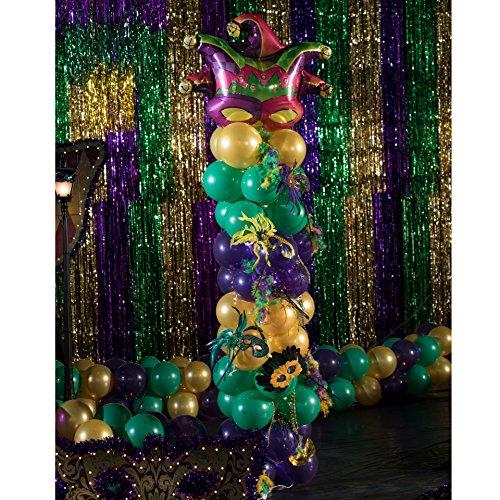 Shindigz Mardi Gras Madness Balloon Column ()
