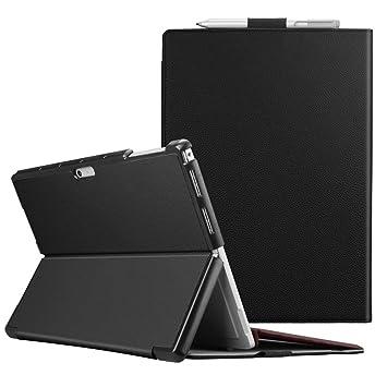 Fintie Funda para Microsoft Surface Pro 7 (2019) / Pro 6 (2018) / Pro 5 (2017) / Pro 4 - Carcasa Dura de Múltiples Ángulos Compatible con Teclado Type ...