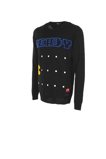 356350512d90 Maglia Uomo Ice Play S Nero A018 7098 Autunno Inverno 2017 18   Amazon.co.uk  Clothing