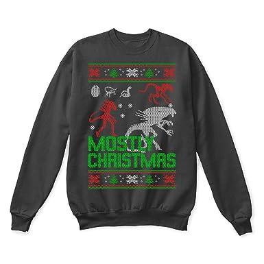 TSHIRTAMAZING Mostly Christmas Xenomorphs Alien Ugly Sweater