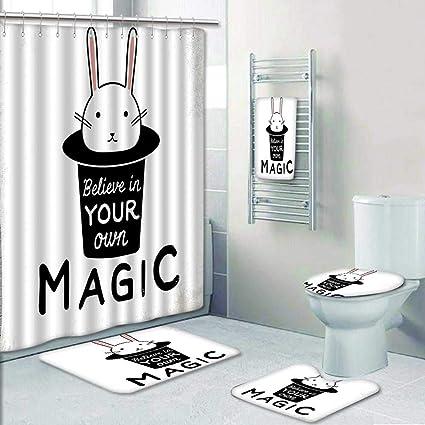 AmaPark Designer Bath Polyester 5 Piece Bathroom Set Believe In Your Own Magic Quite
