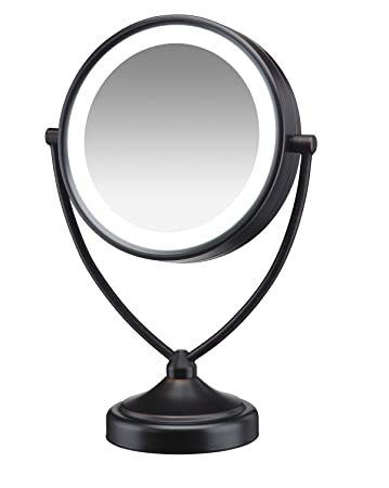 Amazon conair natural daylight double sided lighted makeup conair natural daylight double sided lighted makeup mirror lighted vanity makeup mirror 1x aloadofball Images