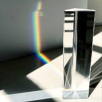 Cristal optique en verre Triple Prisme triangulaire enseignement