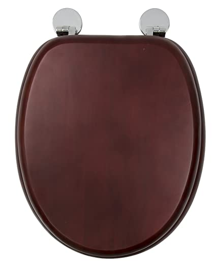 Croydex Flexi Fix Davos Always Fits Never Slips Toilet Seat Wood Mahogany Effect 43 X 365 X 6 Cm