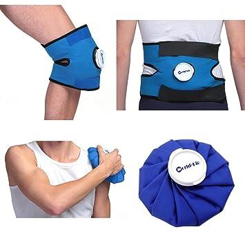 Amazon.com: Inglés Ice Pac bolsa hielo reutilizable Packs de ...