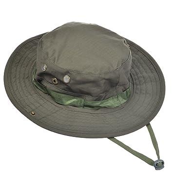 Contever® Sombrero de la Pesca - Gorra Pescador Gorro Para Mountaineer  Campamento Redondo Adumbral Sombrero d4cfc9e8547