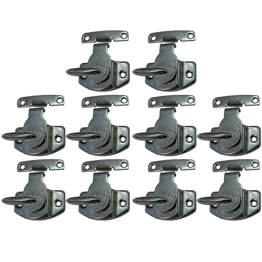 Echaprey Metal Black Table Lock Training Dining Table Connector Door Drawer Cabinet Buckle Hardware Accessories (10Pcs)