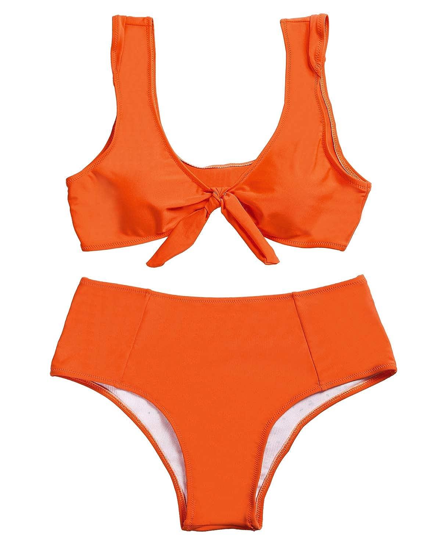 orange KENANCY Women's Long Sleeve Striped Tunic Dress Loose Swing TShirt with Pocket