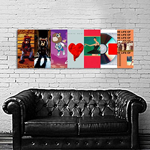 Album Art Posters (Poster Mural Kanye West Art Album Cover 20x60 inch (50x150 cm) on 8mil Paper #47)