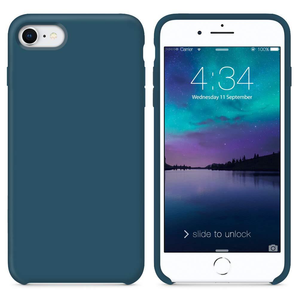 SURPHY Funda iPhone 7 Funda iPhone 8, Carcasa Ultra Fina Silicona Suave Bumper Case Cover de Protección Flexible Cover Funda para iPhone 7 iPhone 8 ...