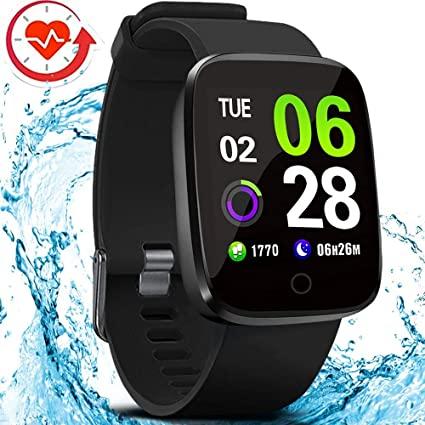 FITVII E-Pro Smart Watch, Fitness Tracker with Multifunctional Sport Mode, Heart Rate&Blood Pressure Monitor with SpO2 and Sleep Tracker, Waterproof ...