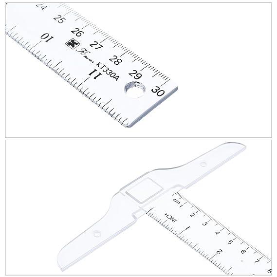 Riga metrica quadrata a T BASSK 30 cm in plastica