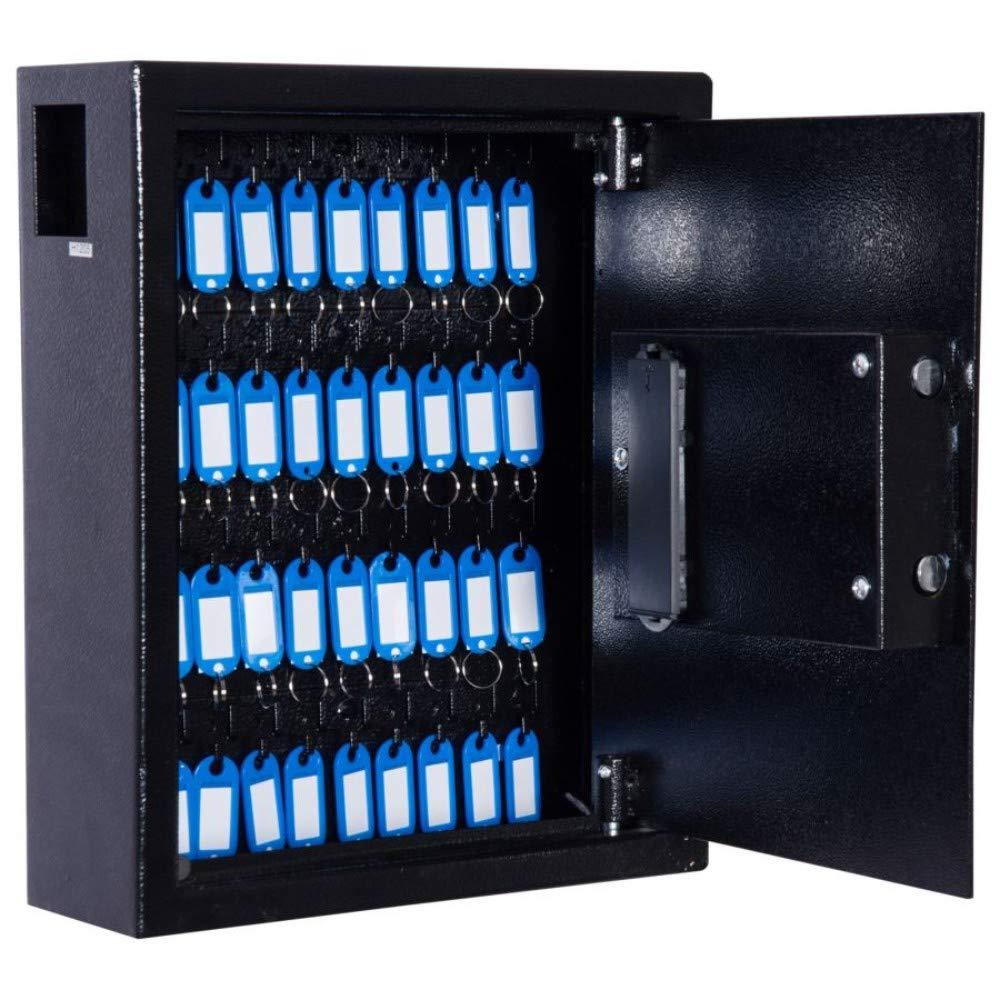 40 Key Steel Wall Mount Lockable Key Organizer Key Chain Holder Storage Cabinet with Key Tags