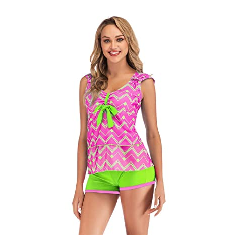 4fa2f376e2f YKXIAOYU Vintage Summer Swimming Costume for Women Plus Size Swimwear Ladys  Tops Beach Dress for Women