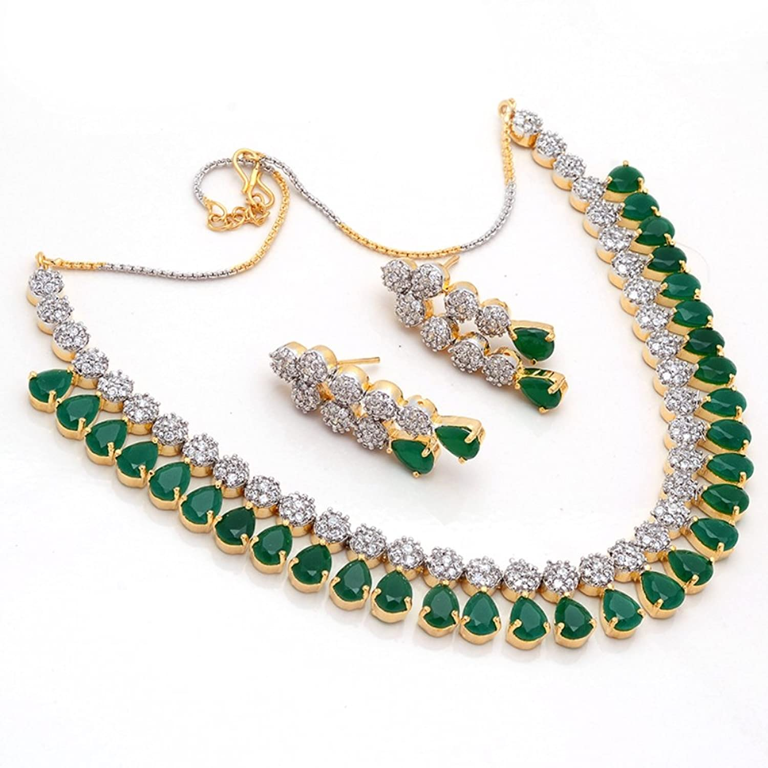 diamond with to hover necklace gold zoom en kay white mv created kaystore lab emerald zm
