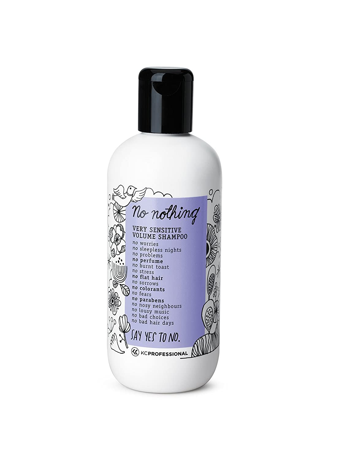 100% Vegan Volume Shampoo - Very Sensitive Hypoallergenic Shampoo Cleanses and Gives Volume to Thin Hair - Allergen Free, Fragrance Free, Paraben Free, Gluten Free, Unscented 10.15 oz