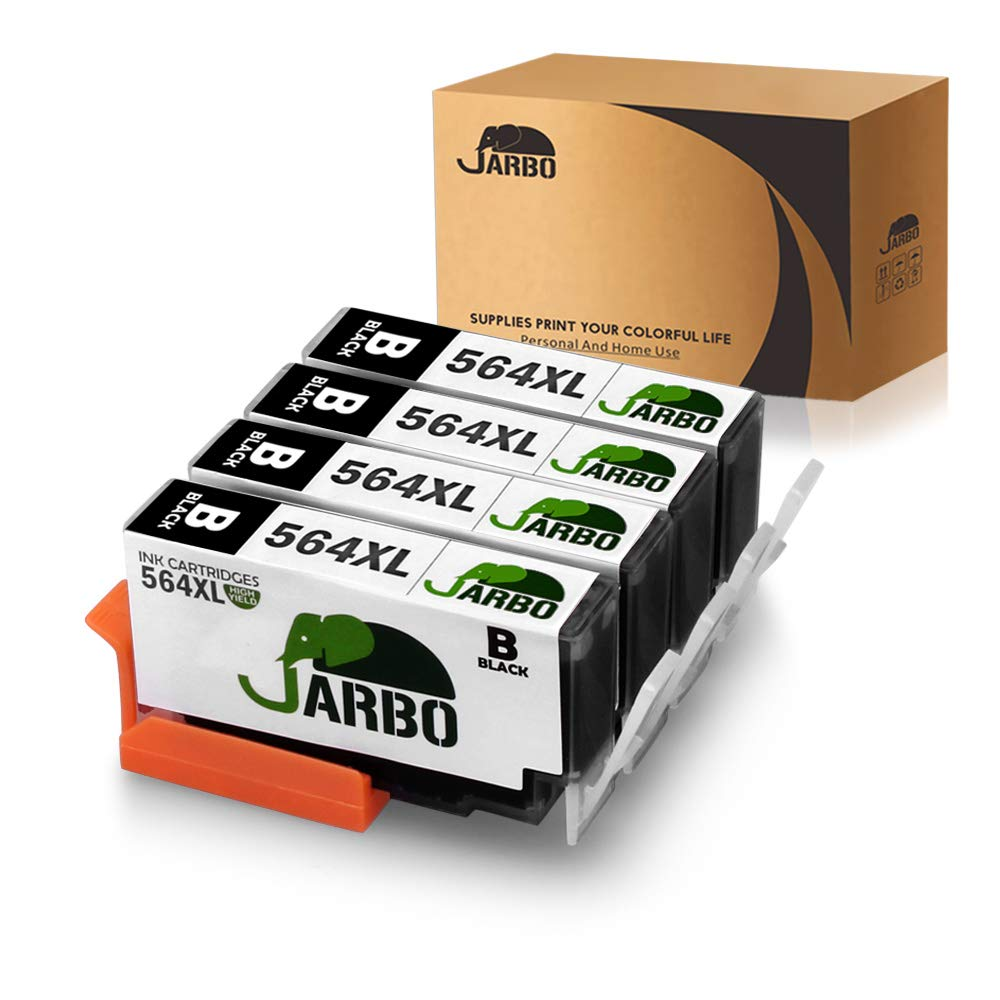 JARBO Compatible for HP 564XL Ink Cartridge, 4 Black, Used in HP Photosmart 5520 6520 7520 5510 6510 7510 7525 B8550 HP Premium C309A C410A HP Officejet 4620 HP Deskjet 3520