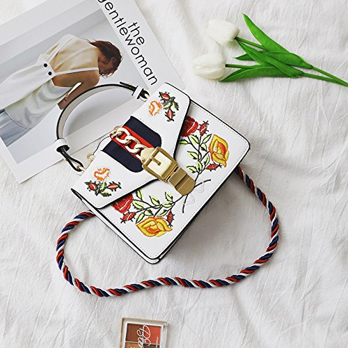 Banquet Bag Rope Embroidered Banquet colored Classic White Bag Travel Kyokim Flower The Mti Bags Travel Crossbody Bag 2018 5YAw8q