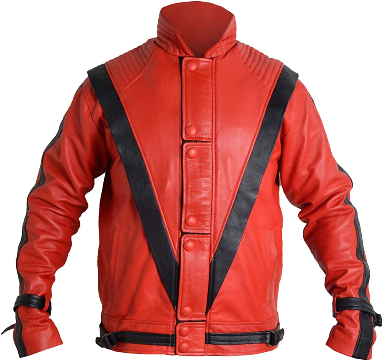Shop House Michael Jackson - Chaqueta para hombre de piel sintética suave (XXS-3XL), disfraz de Michael Jackson