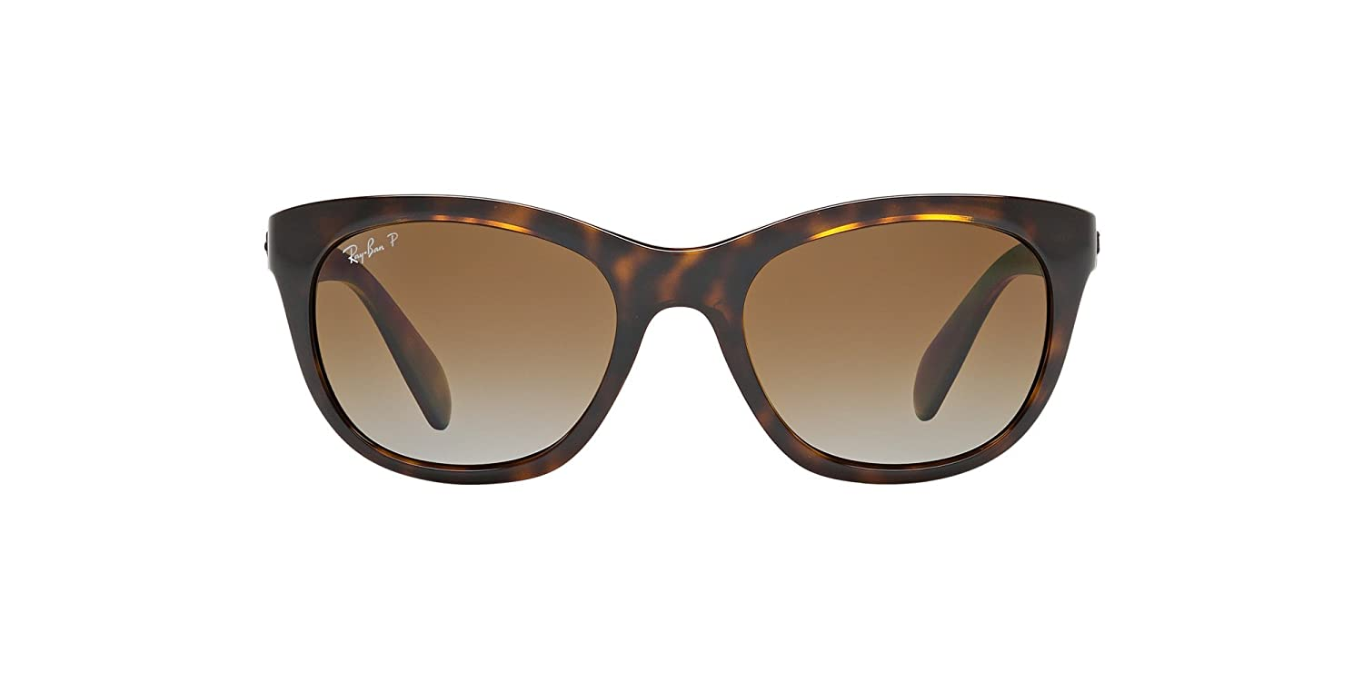 b9b933c4530cb Amazon.com  Ray-Ban Highstreet RB4216 - 710 T5 Sunglasses Tortoise w   Polarized Brown Gradient 56mm   Sports   Outdoors